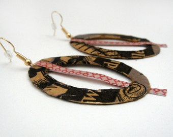 Recycled paper earings