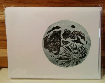 Moon Lino Cards