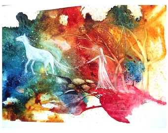 """Abstract watercolor original, 22""""x15"""", lyrical abstraction, dlrs435.00"""