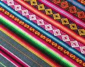 Traditional baby wrap carriers - Peruvian Andean manta rainbow textile