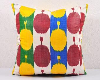 Sale! Ikat Pillow, Hand Woven Ikat Pillow Cover  A536-1aa3, Ikat throw pillows, Designer pillows, Decorative pillows, Accent pillows