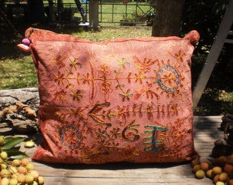Large Embroidered Tribal Cushion Cover