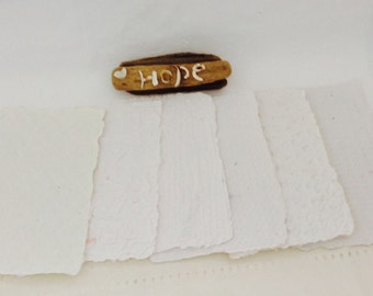 Handmade Paper - White - Recycled - Texture