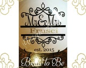 Mr. & Mrs. Wedding dish - decor - Bridal shower gift - engagement gift - vinyl NOT paint - made to order