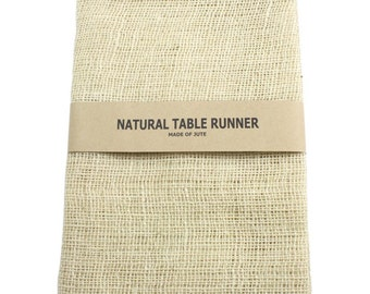 "Ivory Jute Table Runner 14"" X 72"" for Embellishing"
