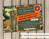 Birthday invitation (digital file only)Arrow shooting, hunger games, hunting, camping, archery, archery club, birthday, party, invitaiton