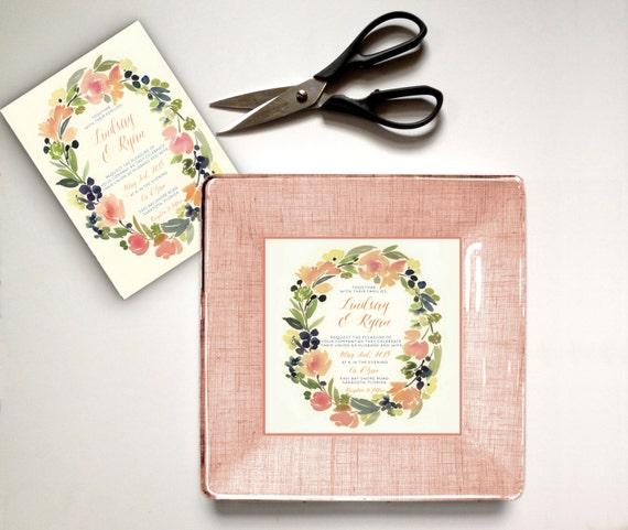 Wedding Gifts For Invitees: Rustic Wedding Gift Idea Woodsy Wedding Invitation Plate
