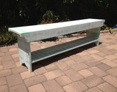 Bench - TV Stand - Coffee Table, Dining Bench, Wood Bench, Hallway Bench, Entry Bench, Mudroom Bench, Rustic Bench, 5 Foot, 60""