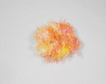 Fuzzy Ponytail Holder Knitted Fuzzy Scrunchie Girls Hairtie
