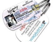 Wyoming Driver's License Pet Tag - Personalized Pet Tag, Stainless Steel Pet Tag, Dog License ID, Dog License Tag, Dog ID Tag, Custom Tag