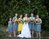 The ONE Dress multi wrap infinity wear convertible bridesmaids dress wear me again wedding gown