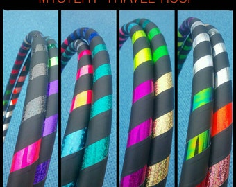 MySteRy Collapsible Hula Hoop // Custom // Made to Order // ANY size // ANY Tubing // Recycle // Upcycle // Surprise