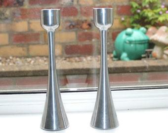 Vintage modernist candle holders.
