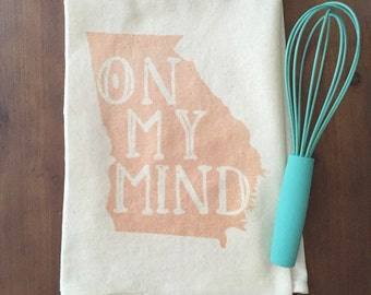 "Georgia ""On My Mind"" Flour Sack Tea Towel"