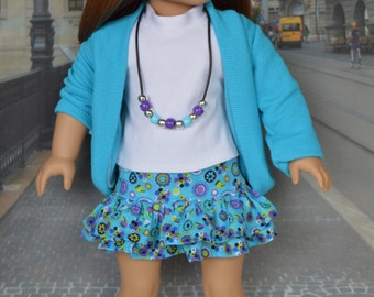 Spring Skirt Set for 18 Inch American Girl Dolls