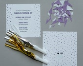 PURPLE Watercolor Polka Dot Invitations - Printable, DIY, Dalmatian Dots