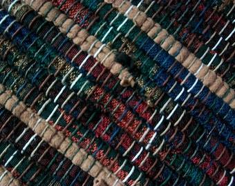 handmade black and tan multicolor loom woven South Dakota made