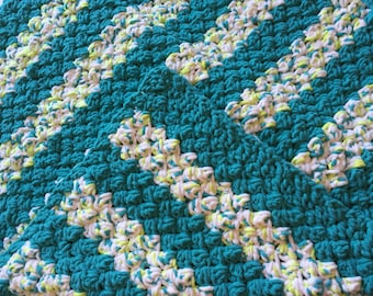 "Crocheted Baby Blanket 40""x40""/Floor Blanket for Baby /Toddler Blanket /Baby Blanket  Lap Blanket  Ideal for Everyone"