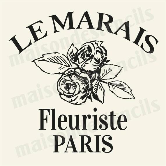 euro stencil design le marais fleuriste roses paris. Black Bedroom Furniture Sets. Home Design Ideas