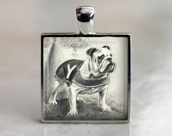 Vintage Yale Bulldog Dog Pendant