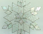 stained glass snowflake suncatcher (design 17B)