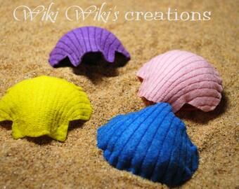 Felt Scallop Seashells- Pack of 4
