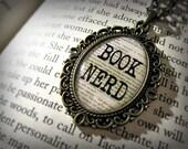 Book Nerd Literature Pendant Charm I Love Books Antique Bronze