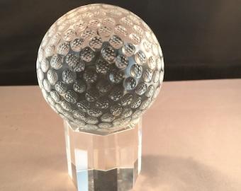 Crystal Golf Ball with base
