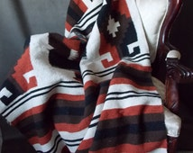 Vintage Mexico Southwestern Large Woven Rug