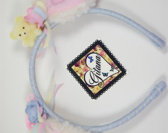 Lolita Baby Sheep Headband- Lolita Headband- Lolita Accessories- Pastel- Fairy Kei