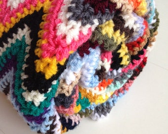 Crochet baby blanket - unique multicolor crochet blanket