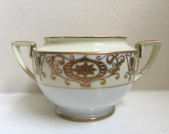 Noritake Christmas Ball Sugar Bowl with Handles