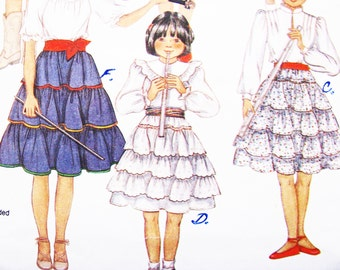 Pattern McCall's 8337 Twirly Skirts Girl's Size 12 Sewing 1983 ADORABLE Uncut New FACTORY Folds