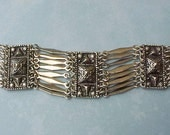 Beautiful Vintage Mexican Silver Colored Bracelet