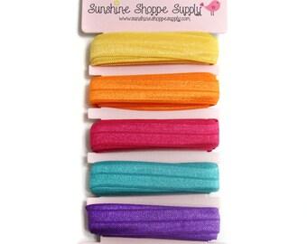 Fold Over Elastic 5 Color Bundle - Beachy