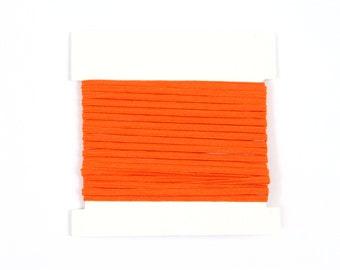 Elastic, 1/8th inch flat elastic for DIY Making Baby Headbands, skinny elastic - 5, 10, or 20 yard bundles - ORANGE