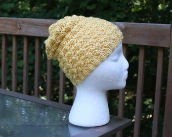 The Mini Slouchy Beanie in Sunshine - Ready to Ship