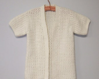Knitting Pattern For Shawl Bed Jacket : Knitted bed jacket Etsy