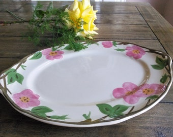 Franciscan Desert Rose 14 inch Oval Serving Platter, Fine China Dinnerware