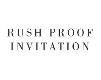 Rush Order - Any Invitation Set - One Business Day Turnaround