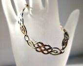 Celtic Sterling Silver Bracelet, Irish Silver Celtic Design Link Bracelet