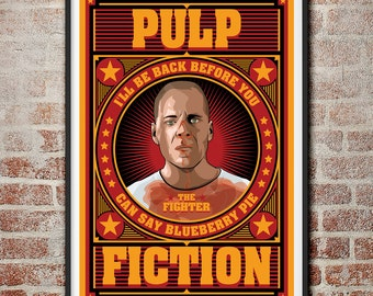 Pulp Fiction: The Fighter Butch Coolidge Movie Poster