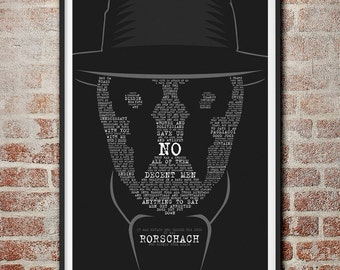 Rorschach Watchmen DC Comics Movie Quote Poster