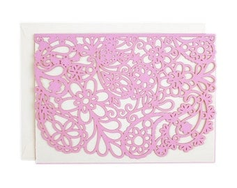 Paisley Laser Cut Card