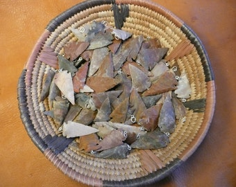 Arrowhead Pendants Wholesale bulk lot of 20 for Jewelry or Crafts