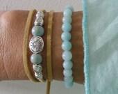 wrap bracelet, beachcomber natural faux suede bracelet, beach bohemian bracelet