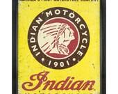 Vintage Indian Motorcycle Tin Sign Art (5051216ART54A)