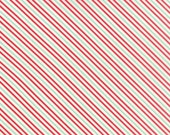Hello Darling - Bias Stripe in Red Multi - Bonnie and Camille for Moda - 55112 18 - 1/2 yard