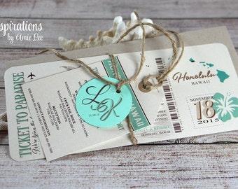 Boarding Pass Invitations