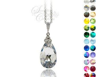 Crystal Necklace Comet Argent Light Swarovski Pendant Wedding Jewelry Bridesmaid Gift Bridesmaid Necklace Cubic Zirconia Sparkly Silver W02